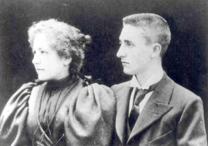 Antoni Pla i Maria Casadevall el dia del casament (FJP=