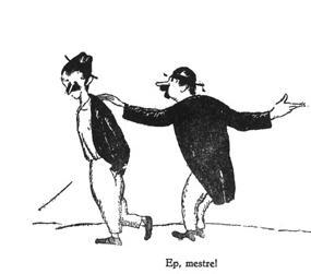 Dibuix de Xavier Nogués