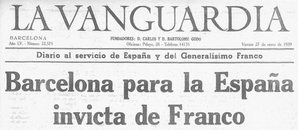 LaVanguardia, 27.01.1939